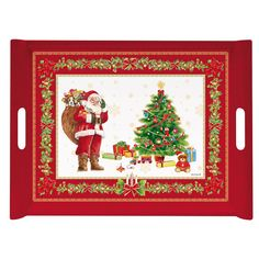 Christmas red tray, 52 x 37cm | ACHICA