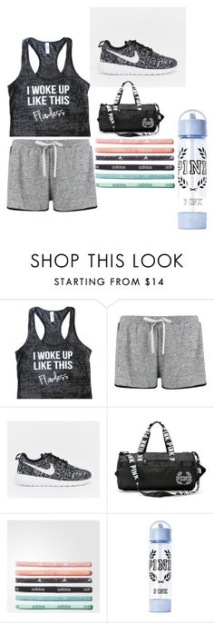 """""""Gym workout clothes"""" by amy-chavez-1 ❤ liked on Polyvore featuring Boohoo, NIKE and adidas"""