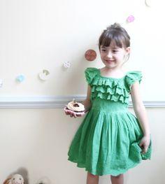 Alla Cotton Olivian Dress (2C) — jujubunnyshop