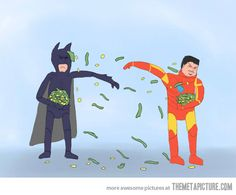 The ultimate battle between Batman and Iron Man…