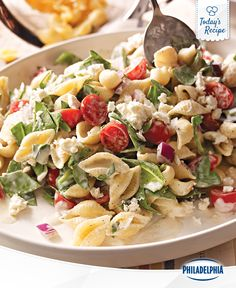Who knew going to the mediterranean was as easy as eating this pasta salad?