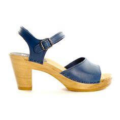 Sandal Clog High Blueberry, $165, now featured on Fab.