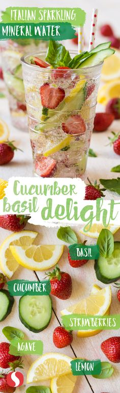Packed with natural agave, strawberry and lemon flavors, this Cucumber Basil Delight recipe could not be easier! Beat the heat and try for yourself!