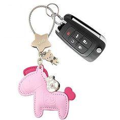 c61534f581d0 Leather Horse Purse Handbag Charm Pink