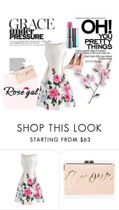 """""""Rosegal- Print Dress"""" by kristina779 ❤ liked on Polyvore featuring Chicwish, BCBGMAXAZRIA, Topshop, MyStyle, polyvorefashion and rosegal"""