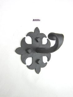 Rustic Spanish Fleur De Lis Wrought Iron Hook BHH1. Bathroom HardwareCabinet  ...