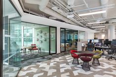 """A private real estate firm recently appointed workplace design firm Oktra to design their new office in London. """"Our client wanted an office which would Interior Design Companies, Office Interior Design, Office Interiors, Office Fit Out, Open Office, Office Spaces, Diego Martinez, Office Environment, Workplace Design"""