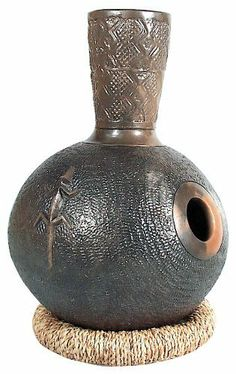 """LP Udu Drum Tambuta by LP. $69.00. The clay construction of LP Udu Drums is based upon centuries-old African traditions. The name """"Udu"""" has been derived from the Nigerian Ibo language, meaning """"pottery"""". Each LP Udu Drum offers individual tonal values. They can be played by hitting any part of the drum with the palm of the hand or the finger tips. The textured surfaces provide additional tonal variations by creating rubbing sounds. Features:. Save 54%!"""