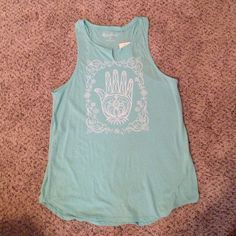 Lucky brand tank top This is a super cute brand-new lucky brand tank top and a super pretty blue color that has never been worn and still has the tags on it. Lucky Brand Tops Tank Tops