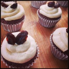 Milo cupcake with maple syrup fosting.