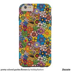 pretty colored garden flowers tough iPhone 6 plus case