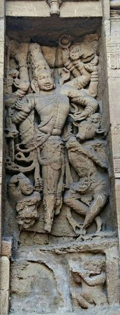 """Lord Shiva as Natraj Dancing with Nandi, the Bull"", Kailashnath Temple at…"