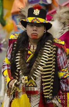 Pow Wow First Nations 5 by Bob Christopher Native American Warrior, Native American Regalia, Native American Photos, Native American Beadwork, Native American Fashion, American Indians, American Symbols, American Women, American Art