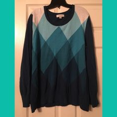 Teal argyle lightweight sweater Teal argyle lightweight sweater Merona Sweaters Crew & Scoop Necks