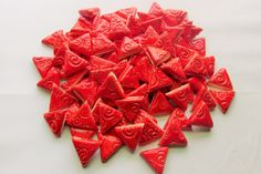 Mosaic Tile-1 Inch 100 pieces-embossed triangles by mosaicmonkey