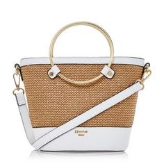 Dune London's chic Dircle bucket handbag is a timeless everyday style. Featuring a circle metallic handle, raffia panel detail and zip up closure. With an optional shoulder strap, Dune branded lining and inside pocket. Bucket Handbags, Dune, Everyday Fashion, Balenciaga, Bucket Bag, Zip Ups, Shoulder Strap, Basket, Detail