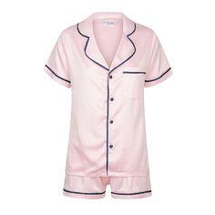 Satin Sleepwear, Satin Pajamas, Satin Pyjama Set, Pajama Set, Personalized Pajamas, Tie Shorts, Kids Pajamas, White Long Sleeve, Collar Shirts