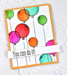 You Can Do It Card by Dawn McVey for Papertrey Ink (April 2015)