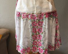 Vintage Reversible Apron Pinks and Solids by greatfleamarketfinds