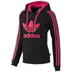 best loved c7f68 e2ade Moletom Adidas Women s Slim Hoodie Black Pink  Adidas Moletom