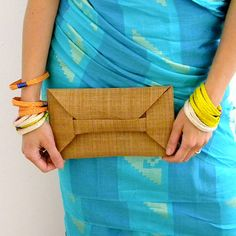 ORIGAMI CLUTCH  abaca bag in mustard yellow by 7100islands on Etsy Filipiniana, Filipino, Mustard Yellow, Origami, Baskets, Sari, Trending Outfits, Business, Clothing
