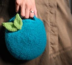 Berry Bag and Knitted Leaf