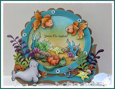 Just Love To Stamp  Love this whimsical scene with all of these fun sea creatures!
