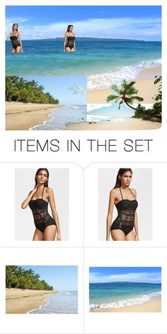 """""""It's This...Her Paradise❤️👩🏽👣☀️🏖❤️"""" by chrisiggy ❤ liked on Polyvore featuring art"""