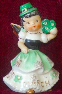 Vintage Napco St. Patrick's Day Girl