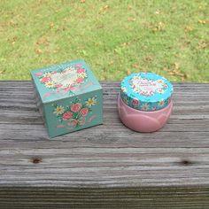 1959-61 Avon vintage marguerites ne diront Sachet crème avec boîte, rose bocal…