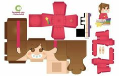 Gravity Falls - Mabel And Dipper Pines Paper Toys - by Moomuu Cool Paper Crafts, Diy And Crafts, Crafts For Kids, Gravity Falls Journal, Unicornios Wallpaper, Fall Birthday Parties, Exploding Box Card, Fall Candy, Paper Pop