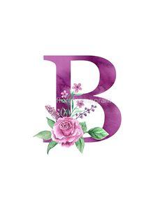 'Monogram B Lovely Rose Bouquet' Poster by floralmonogram Alphabet Letters Design, Flower Alphabet, Flower Letters, Letter Art, Monogram Alphabet, Monogram Wallpaper, Alphabet Wallpaper, Cute Wallpapers, Wallpaper Backgrounds