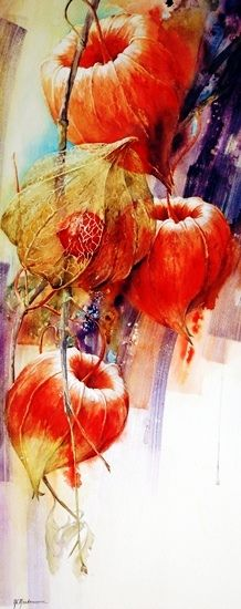 Poppy Pods ~Watercolor by Moudru Marie-Claire Art Floral, Watercolour Painting, Watercolor Flowers, Painting & Drawing, Watercolours, Pintura Graffiti, Botanical Art, Beautiful Paintings, Flower Art