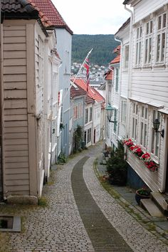 Bergen, Norway - That's two streets from where I'm living right now... :) For more pics you can go to my (french) travel blog : http://lepoissonvolant.over-blog.com/