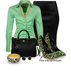 """Green Animal Print"" by loveronica on Polyvore"
