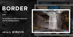 Buy BORDER - A Delightful Photography WordPress Theme by pixelgrade on ThemeForest. BORDER is a unique and easy-to-use Photography WordPress theme built with the professional photographer and their nee. Template Wordpress, Tema Wordpress, Wordpress Theme Design, Premium Wordpress Themes, Photography Themes, Free Photography, Amazing Photography, Creative Photography, Photoshop
