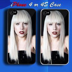 Lady Gaga 8 Custom iPhone 4 or 4S Case Cover 4s Cases 98794ea46ce2