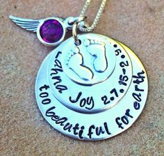 Personalized Baby Memorial Necklace too beautiful by natashaaloha