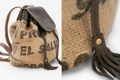 I love burlap and I love writing on things. Perfect duo in this bag.