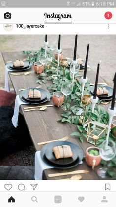 Prettiest wedding tablescapes - 45 Ways to Dress Up Your Wedding Reception Tables ; From rustic to elegant sophisticated wedding. Don& miss these 45 fabulous wedding tablescapes for wedding reception Wedding Reception Tables, Wedding Table Settings, Place Settings, Reception Ideas, Picnic Table Wedding, Buffet Wedding, Reception Party, Wedding Ceremony, Wedding Venues