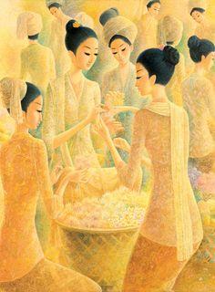 Pranagung (Solo, 1954) - Penjual Bunga.