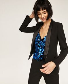 Image 2 of SEQUINNED TOP from Zara