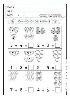 Alfabetizar com AMOR: SOMANDO COM DESENHOS - 2º PERÍODO/ 1º ANO