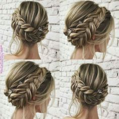45 unique summer wedding hairstyles ideas 52 in 2019 Bridal Hair Updo, Wedding Hair And Makeup, Braided Wedding Hair, Prom Updo, Wedding Braids, Bridesmaid Hairstyles, Homecoming Hairstyles, Medium Hair Styles, Curly Hair Styles
