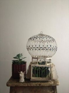 ... - Antieke tunesische voliere vogelkooi (klein) - Curiosa en Brocante