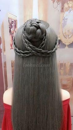 cute meatball head hair
