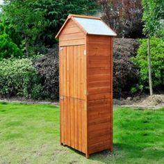 Grande armoire de jardin en résine anthracite 70x50x179cm - KETER ...