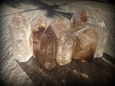 Small Rutilated Quartz generator points for transformation by TheSageGoddess, $51.00
