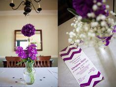 for Devon's shower:  Purple bridal shower details