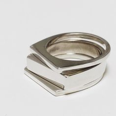 Silver Stacking Rings by @maidenvoyagejewelry